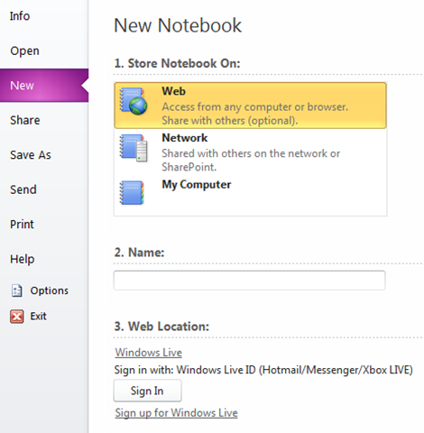 Sync OneNote to SkyDrive