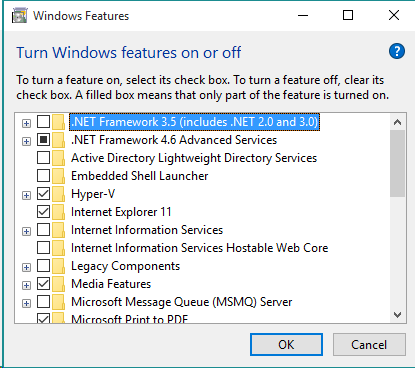 How to install DotNet 2.0 or 3.5 on Windows 10 | Developer OneNote